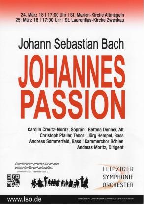 Johann Sebastian Bach Johannes Passion Kammerchor Böhlen - Singen im Südraum Leipzig